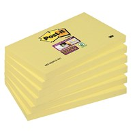 Bloczek samoprzylepny POST-IT® Super Sticky (655-6SSCY-EU), 127x76mm, 6x90 kart., żółty