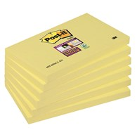 Bloczek samoprzylepny POST-IT® Super Sticky (655-12SSCY-EU), 127x76mm, 1x90 kart., żółty