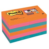 Bloczek samoprzylepny POST-IT® Super Sticky (622-12SS-EG), 47,6x47,6mm, 12x90 kart., paleta Bangkok