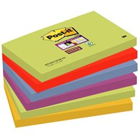 Bloczek samoprzylepny POST-IT® Super sticky (655-6SS-MAR), 127x76mm, 6x90 kart., paleta marrakesz