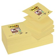 Bloczek samoprzylepny POST-IT® Super sticky Z-Notes (R330-12SS-CY), 76x76mm, 1x90 kart., żółty
