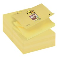 Bloczek samoprzylepny POST-IT® Super sticky Z-Notes (R350-12SS-CY), 127x76mm, 1x90 kart., żółty