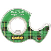 Taśma biurowa SCOTCH® Magic™ (890; 8-1975), matowa, z dyspenserem, 19mm, 7,6m