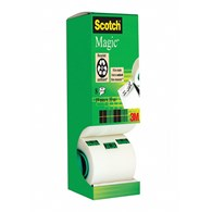 Taśma biurowa SCOTCH® Magic™ (9-1933R8), matowa, 19mm, 33m, 7szt., 1 rolka GRATIS