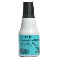 210 CZARNY TUSZ DO STEMPLI METAL. 25ML NORIS