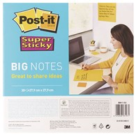 Bloczek samoprzylepny POST-IT® Super Sticky Big Notes (BN11 -EU), 280x280mm,1x30 kart., żółty